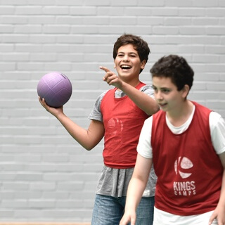 children playing dodgeball