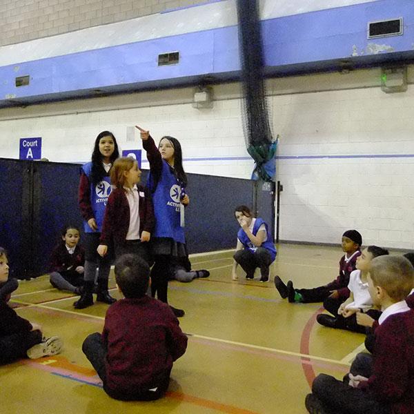 children taking part in active leaders activities