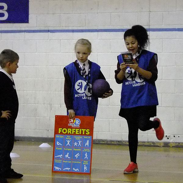 active leaders children delivering activities