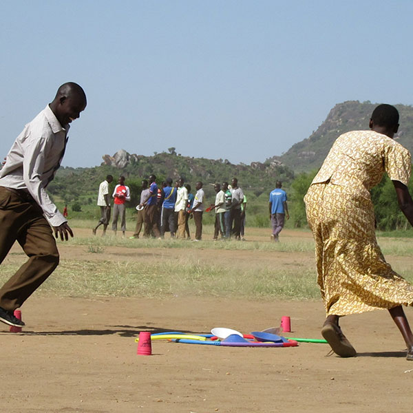 residents enjoying sports activities in Botswana